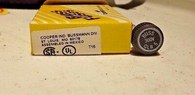 new, box of 5....Bussmann 5A Fast Acting Cylindrical Fuse 300VAC, GLR-5