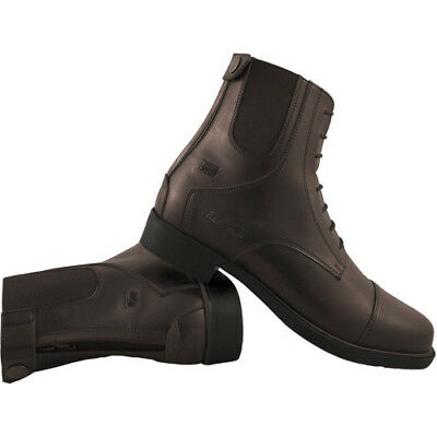 Mark Todd Synthetic Zip Back Unisex Boots Jodhpur - Brown All Sizes
