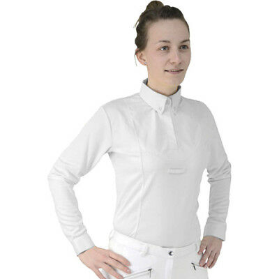 Hy Fashion Dedham Long Sleeved Tie Womens Shirt Competition - White All Sizes