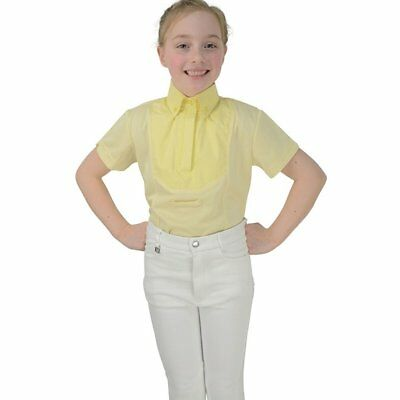 Hy Fashion Tilbury Short Sleeved Kids Shirt Competition - Yellow All Sizes