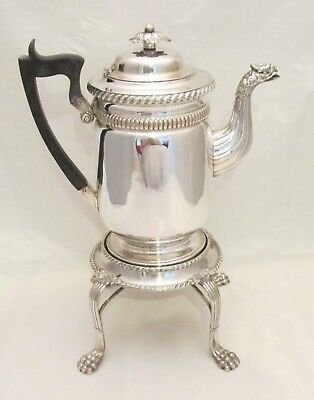 A Rare Old Sheffield Plate Georgian Spirit Kettle on Stand c1800