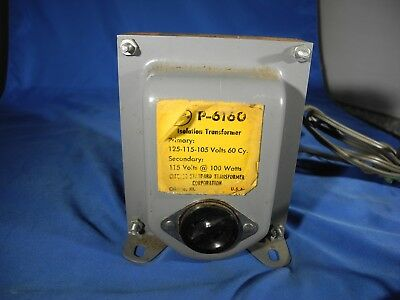 Stancor Isolation Transformer  P-6160 FREE SHIPPING! (TESTED)
