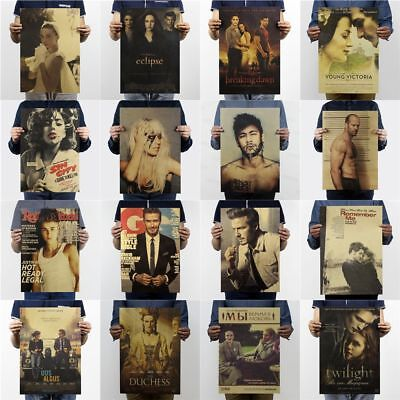 Retro Kraft Paper Posters Room Wall Decor Living Bedroom Bar Classic Playbill