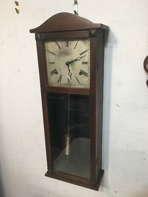 Rare Antique Gilbert Hollywood Wall Regulator Clock