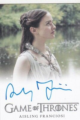 2018 Game Of Thrones Season 7 Aisling Franciosi Autograph Trading Card