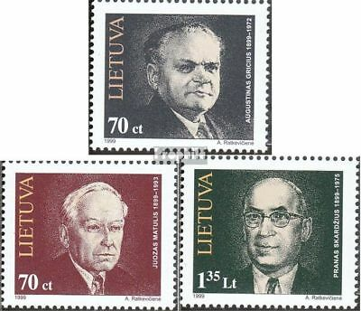 Lithuania 689-691 (complete issue) unmounted mint / never hinged 1999 Personalit