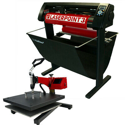"34"" LaserPoint 3 Vinyl Cutter w/ARMS + 15"" x 15"" Digital Swing Arm Heat Press"