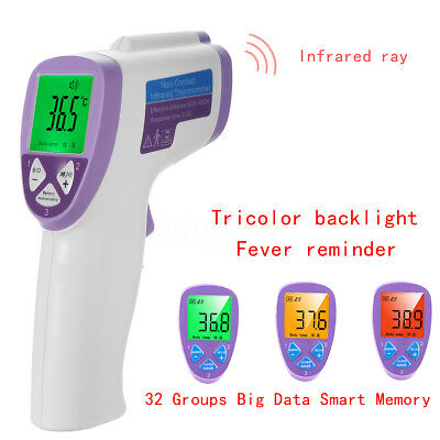Non Contact Baby Adult Digital IR Infrared Medical Body Forehead Ear Thermometer