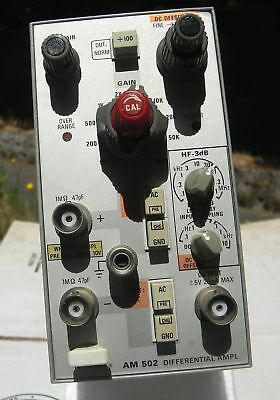 Tektronix AM502 DC to 1 MHz 100 dB CMMR to 50 kHz Differential Amplifier Plug-In
