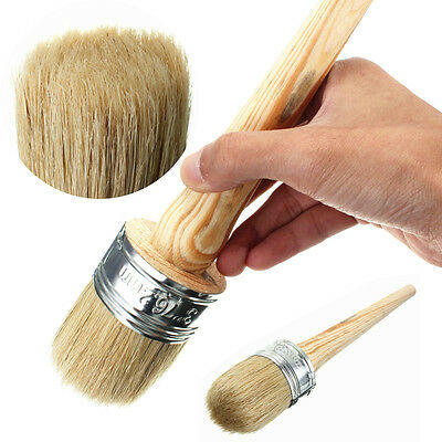 3/5PCS 50mm Wax Paint Wooden Handle Round Bristle Chalk Oil Painting Brush NEW