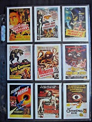 1997 *horror Movie Posters* Complete 34 Card Set  Htf