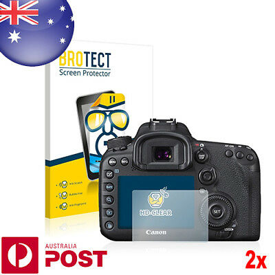 2x BROTECT® HD Clear Screen Protector for Canon EOS 7D Mark II - P018A
