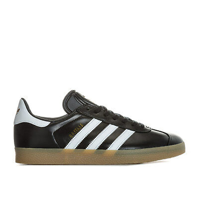 Mens adidas Originals Gazelle Trainers In Core Black/Footwear White