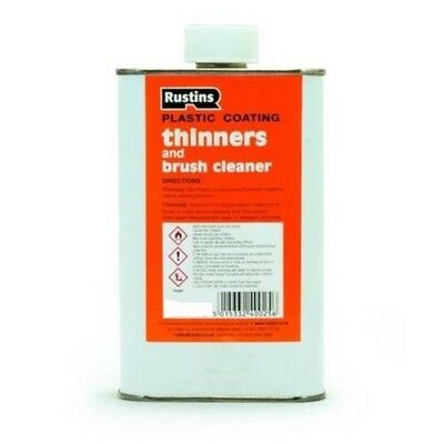 Rustins Plastic Coating Thinners and Brush Cleaner 250ml Powerful Solvent Blend
