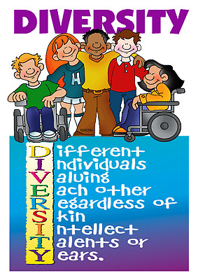 A4 Poster Sign Diversity Cultural Educational Children Childminders Nursery (5)
