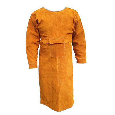 "40.5"" L Leather Bib Welding Apron Heat insulation protection Safety apron Coats"