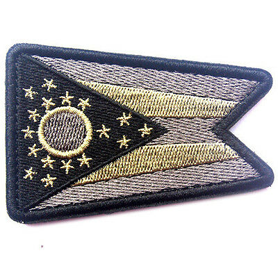 USA Ohio FLAG OH STATE FLAG U.S. ARMY MORALE BADGE TACTICAL HOOK LOOP PATCH #7