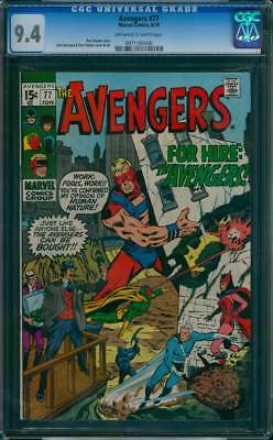 Avengers # 77  For Hire ; The Avengers !  CGC 9.4 scarce book !