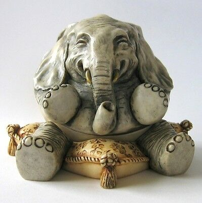 MPS Harmony Kingdom - Gigglees - Small Two Part Rocking Elephant Figurine - NIB