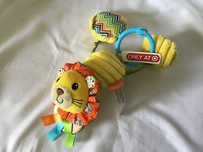 2012 Infantino Lion Rattle Crib / Car Seat / Stroller Toy Yellow