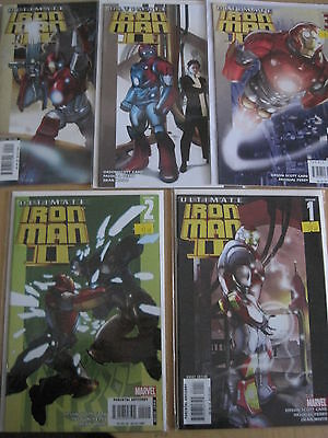 ULTIMATE IRON MAN II : COMPLETE 5 issue SERIES by CARD & FERRY. MARVEL.2008