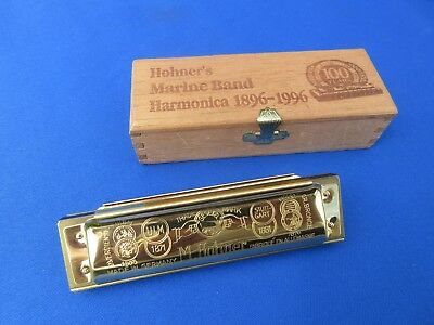 Hohner Marine Band 1896/20C Limited Edition 24K Gold Plated 100 years RARE