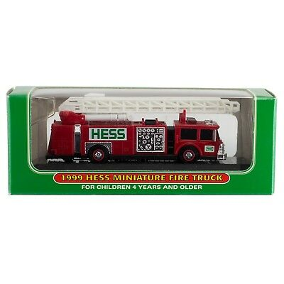 Hess 1999 Miniature Toy Fire Truck New In Box
