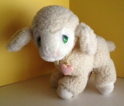 "1985 Applause LEVI LAMB Precious Moments 10"" Plush Pink Locket Vintage Stuffed X"