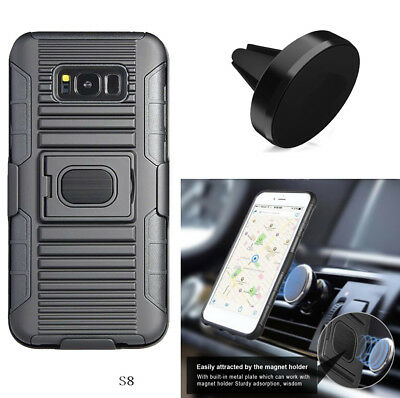 Phone Case For Samsung Galaxy S8 / S8+ S8 Plus Holster Cover Magnetic Car Mount