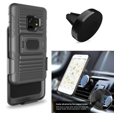 Phone Case For Samsung Galaxy S9 / S9+ S9 Plus Holster Cover Magnetic Car Mount