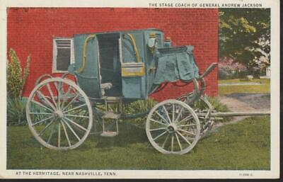 Nashville Tennessee Stage Coach General Andrew Jackson Hermitage Vintage PC Rare