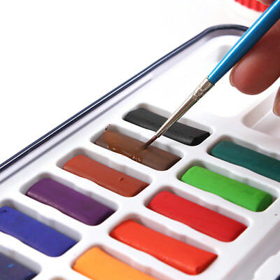 12/28/24 Colors Artist Solid Watercolor Pigments + Paint Brush Pen Metal Box Set