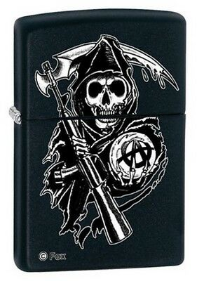 Zippo 28504 SofA Reaper Design on Black Matte Finish Classic Ligthter