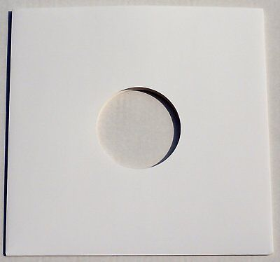 """25 12"""" White Card Record Sleeves Covers Disco Bags / Gloss Finish *New* Free P+P"""