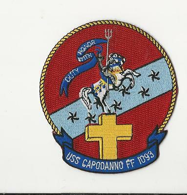 Us Navy Patch - Ff 1093 Uss Capodanno - Navy Chaplain  Medal Of Honor Recipient
