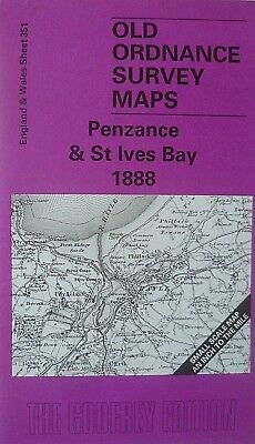 Old Ordnance Survey Map Penzance & St Ives Bay  & Plan St Just (1906) 1888 New