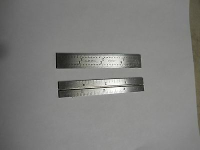 "Starrett    4 Grad   Grooved rule      two (2)-4"" rules.     New"