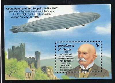 1992 Grenadines of St Vincent - 75th Anniversary of death of Zeppelin MS 906b