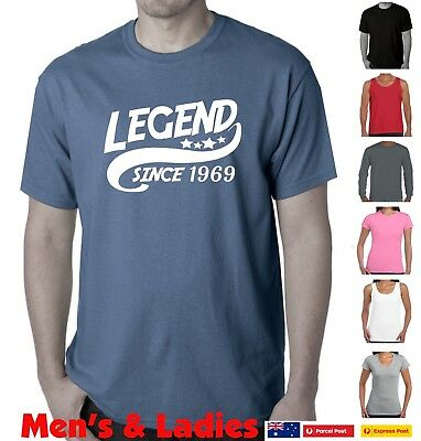 50th Birthday T Shirt 1969 Womens Mens Tees Legend Since Funny Shirts