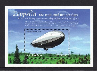 2000 Ghana - Centenary of 1st Zeppelin Flight SG MS3063