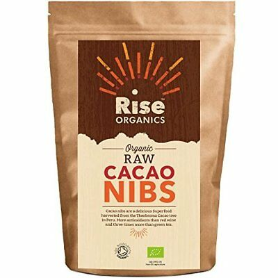 Raw Organic Cacao Nibs / Rise Organics Cocoa Nibs 500g Raw Criollo | Protein Sup