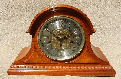 "Stunning Hermle ""Black Forest"" Westminster Chime Mahogany  Mantel Clock  2815"