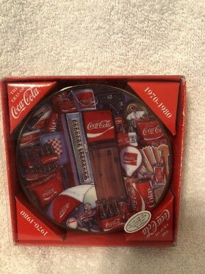 1995 Coca-Cola Collector's Edition Mini Plate 1970-1980