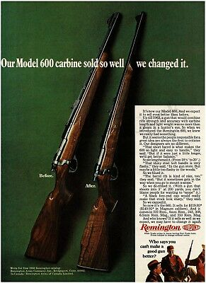 1968 REMINGTON Model 660 compared to Model 600 bolt-action rifle VTG PRINT AD