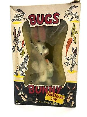 Vintage in Box 1940's Bugs Bunny Squeeze Oak Rubber Co Warner Bros Cartoons Inc.