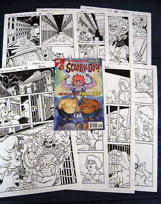 SCOOBY-DOO Original Rough Comic Art! 8-Page COMPLETE Story! SCOOBY-DOO #148!