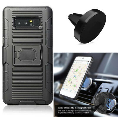 Phone Case For Samsung Galaxy Note8 N950U Holster Cover Magnetic Car Mount