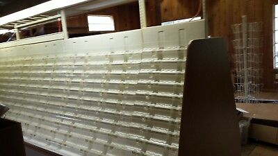 Lighted Card Rack Display With Storage Drawers Very Good Solid Condition