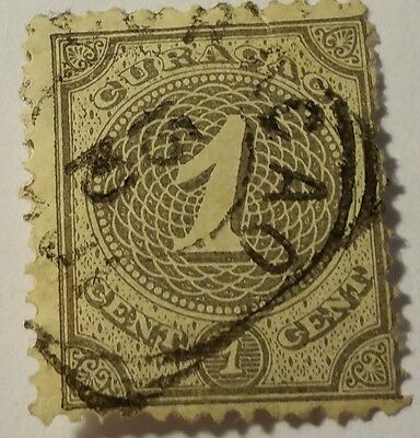 Curacao   Scott#13  Cat Value At $3.00 Used......worldwide Stamps