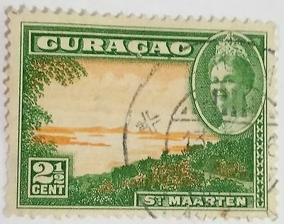 Curacao  2 1/2 Cents   Used Stamp ......worldwide Stamps